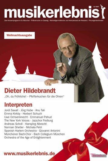 Dieter Hildebrandt - Musikerlebnis