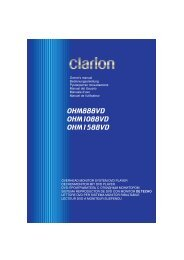 OHM888VD OHM1088VD OHM1588VD - Clarion