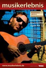 Brunnenhof Open Air '12 - Musikerlebnis