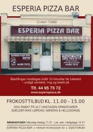 Esperia Pizza Bar | Farum Hovedgade 33