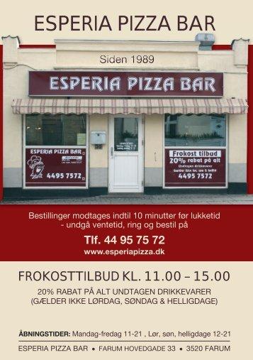 Esperia Pizza Bar   Farum Hovedgade 33