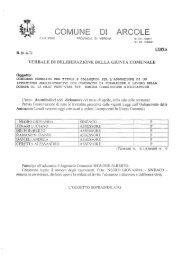 concorso pubblico per titoli e colloquio per l ... - Comune di Arcole