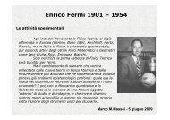Enrico Fermi fisico sperimentale - Dipartimento di Fisica