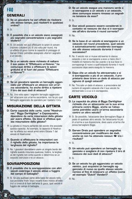 SW X-Wing Miniatures: FAQ 1.1 – Italiano