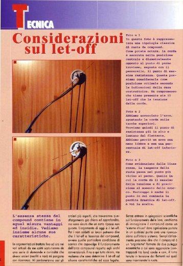 Sandro Ruggiu Considerazioni sul let-off - Arco e Freccia
