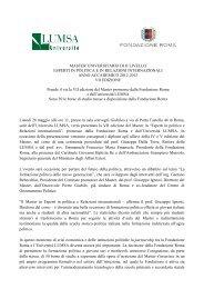 MASTER UNIVERSITARIO DI II LIVELLO ESPERTI IN POLITICA E ...