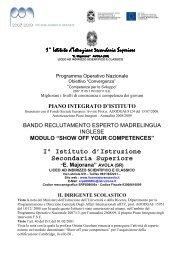 BANDO RECLUTAMENTO ESPERTO MADRELINGUA INGLESE PON