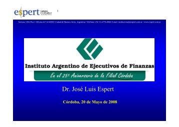 Dr. José Luis Espert - IAEF