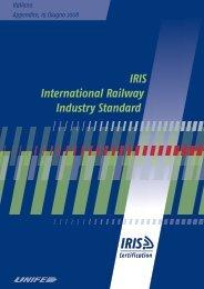 IRIS International Railway Industry Standard - IRIS Portal