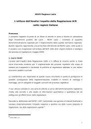 NUVV Lazio, esperienze AIR Regioni - Consiglio italiano per le ...