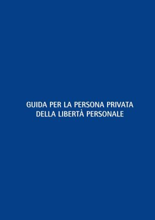 Guida per la persona privata della libertà personale - Città di Torino
