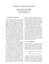 Verb Classes as Evaluativity Functor Classes - Linguistica