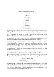 CODICE DI PROCEDURA PENALE - Provincia di Milano