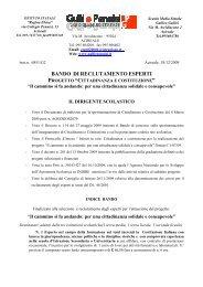 Bando Reclutamento esperti - Liceo Classico Gulli e Pennisi