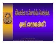 LISI: bioetica e servizio sociale - SUNAS