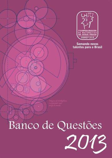 Banco de Questões 2013 - Obmep