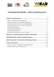 Produktübersicht WSCAD – CAD für die Elektrotechnik