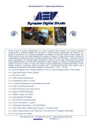 Synapse Digital Studio brochure ita - AEV | Broadcast
