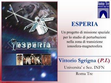 The ESPERIA Project - Università degli Studi Roma Tre