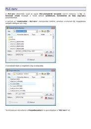PLC terv automatikus kiadása űrlapra