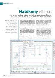 Hatékony villamos tervezés és dokumentálás