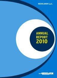 ANNUAL REPORT - Mediolanum SpA