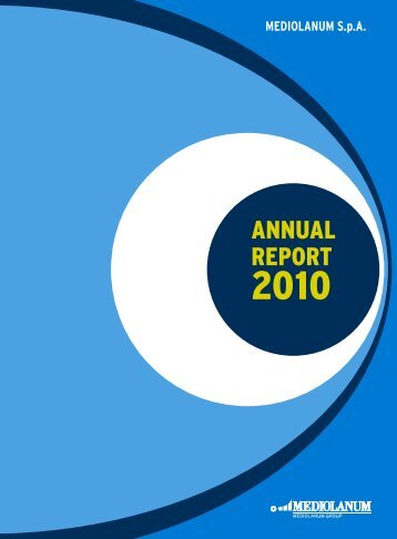ANNUAL REPORT - Mediolanum SpA