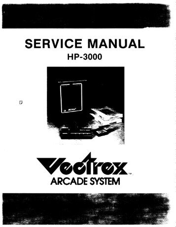 SERVICE MANUAL - Vectrex.nl