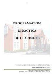 PROGRAMACIÓN DIDÁCTICA DE CLARINETE - Concello de Riveira