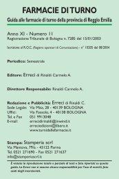 Opuscolo Turni 2013158,91 KB - farmaciadicittadella.com