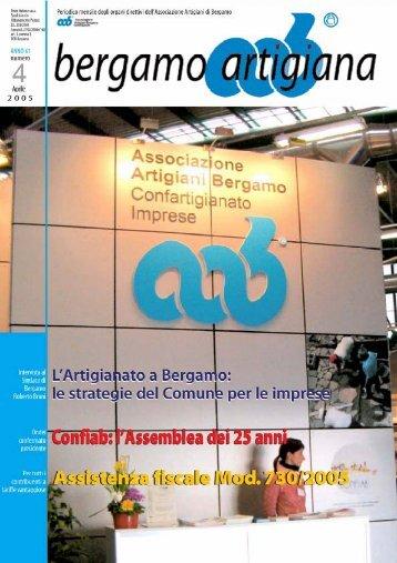 Aprile 2005 - Associazione artigiani Bergamo