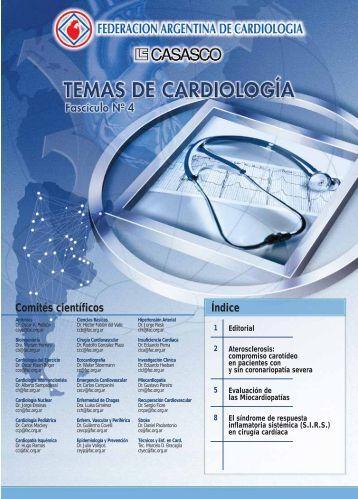 Comités científicos Índice - Federación Argentina de Cardiología