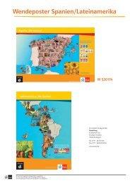 Wendeposter Spanien/Lateinamerika - Ernst Klett Verlag