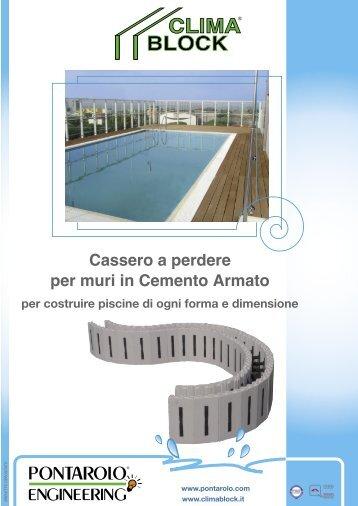 5 free magazines from pontarolo com for Casseri in polistirolo per piscine