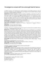 UFFICIO NORME E STATUTO - Università degli Studi di Salerno