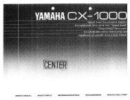 CX-1000 - Yamaha