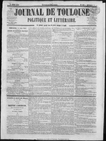 POLITIQUE ET LITTÉ'RAiRE - Bibliothèque de Toulouse