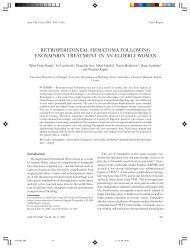retroperitoneal hematoma following enoxaparin treatment in an ...