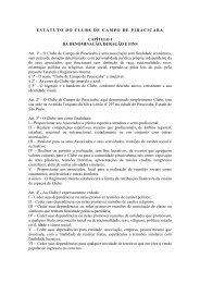 ESTATUTO DO CLUBE DE CAMPO DE PIRACICABA CAPÍTULO I ...