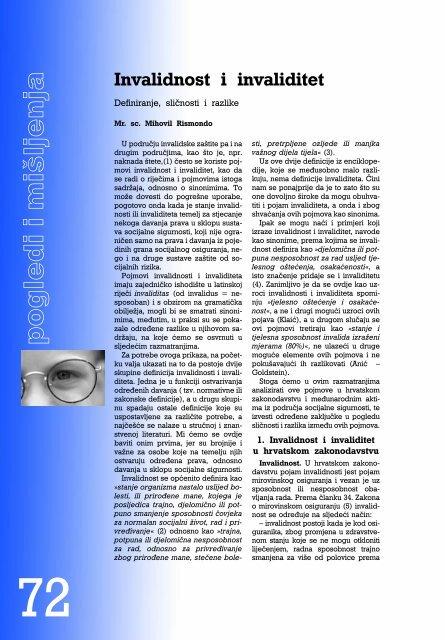 Invalidnost i invaliditet - Hrvatski zavod za mirovinsko osiguranje