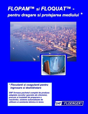 Floculanti pentru dragare - FLOPAM E2.pdf - floerger.ro