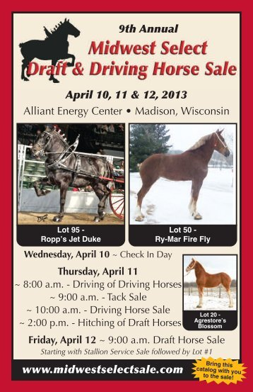 2013 Catalog - Midwest Select Sale