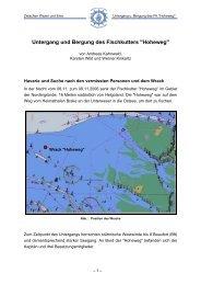 Untergang und Bergung des Fischkutters