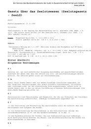 Gesetz über das Seelotswesen (Seelotsgesetz - SeeLG)