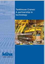 Tankhouse Cranes: A partnership in technology
