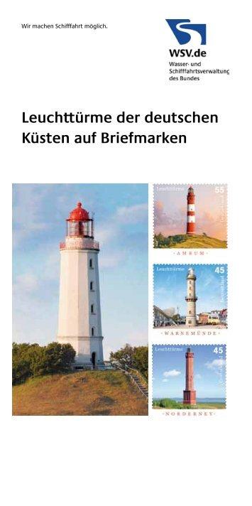 Leuchttürme der deutschen Küsten auf Briefmarken - Wasser- und ...