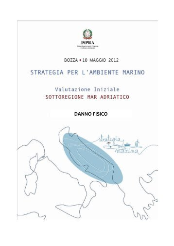 5.2 Mar Adriatico - La strategia marina - Ispra