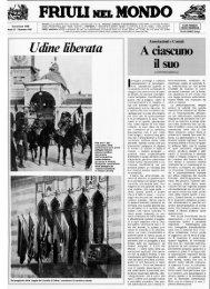 FRIULI MEL MON »if Udine liberata - Ente Friuli nel Mondo