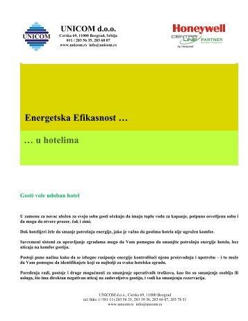 Energetska Efikasnost u HOTELIMA - Misa Orlic dipl. ing. eth. - Unicom