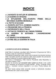 Seconda Guerra Mondiale - Scuola Media di Piancavallo